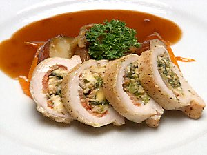 Chicken Stuffed with Goat's Cheese
