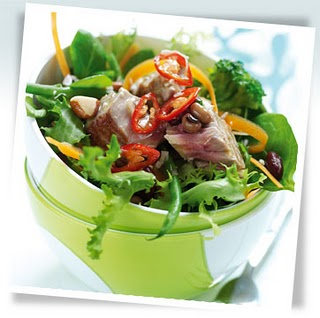 Fresh Tuna and Avocado Salad Recipe - 5 points