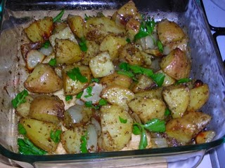 Garlic and Herb Roasted Potatoes Recipe - 2 points