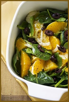 Weight Watchers Recipes:  Orange and fennel Greek salad