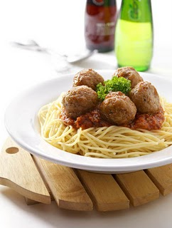 Spicy Meatballs with Spaghetti Recipe - 9 points
