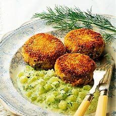 Weight Watchers Recipe: Thai fish cakes with dill sauce